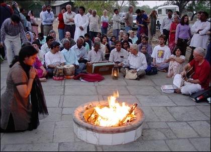 Musicians at Dhuni